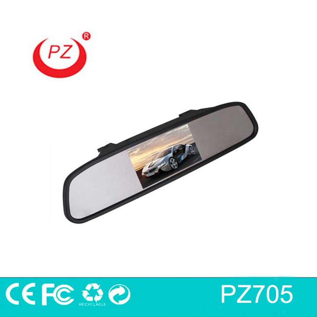 4.3inch car digital rearview mirror with easy to install