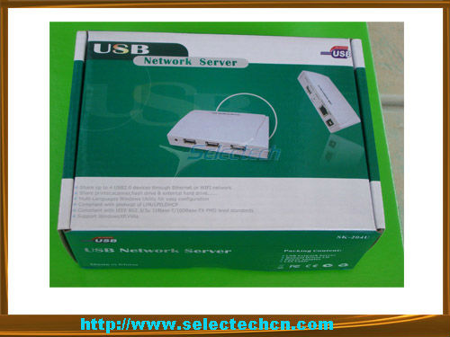 USB2.0 4port 10/100M Network print server computer network device SE-204U
