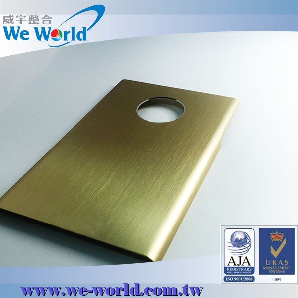 Protective hairline finish anodized aluminum cover for mobile phone