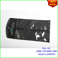 pvc hair extension bag with hangers/Custom hair packaging box ,hot stamping hair packaging bags