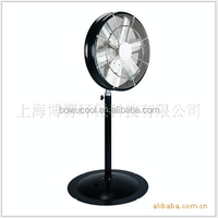 Water park casino outdoor spray cooling fan