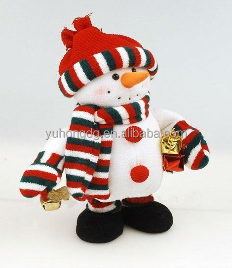 singing snowman with nodding head and moving hands
