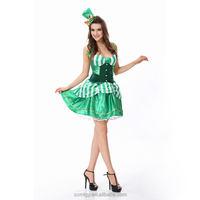 Halloween green magician woman costume