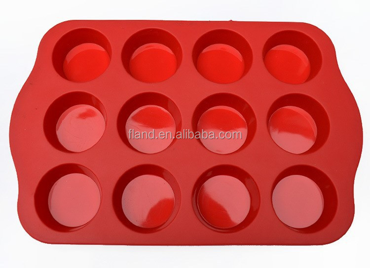 YangJiang factory manufacture round Shape Muffin Cake Silicone Baking Molds