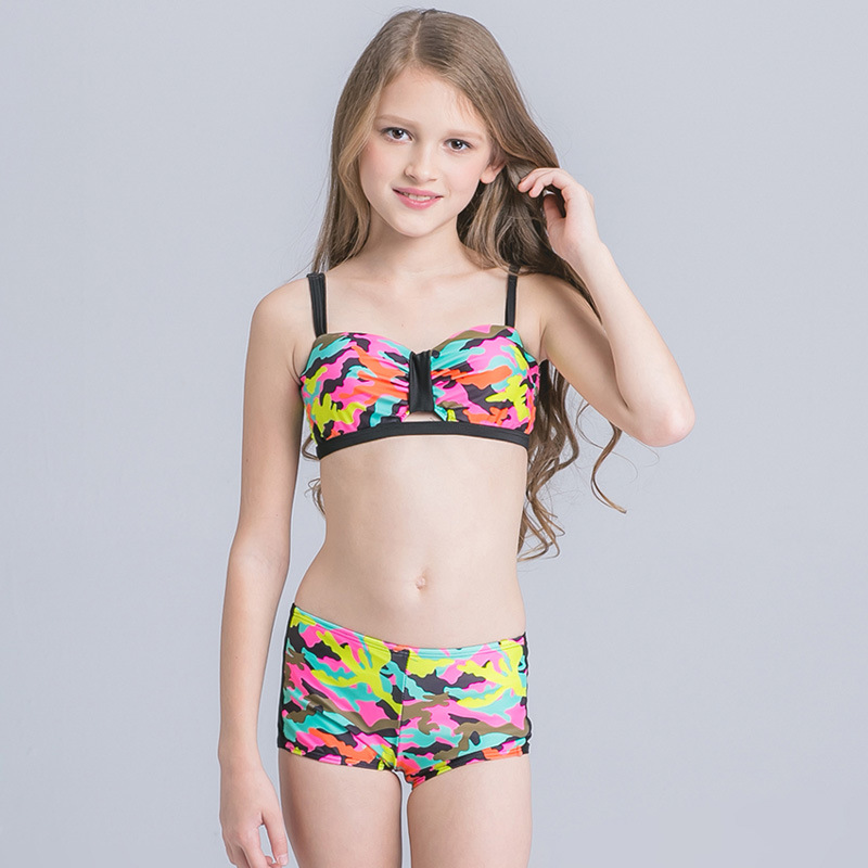 HT-LGS custom kids bathing suit 2017 Summer New Design Hot Sex Bikini Young Girl Swimwear