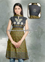 Best Modern Printed Frock While Neck Cultural Style Tunic