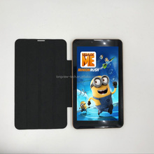 Android4.4.2 dual core 7 inch tablet pc 3g sim card slot with leather cover GPS BT wifi FM 0.3M/2.0 camera