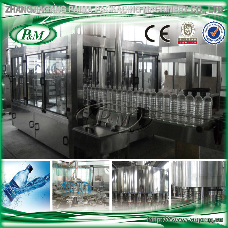 Automatic bottle washing filling capping machine for drinking water