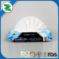 Alcohol free environment-friendly body cleaning wipes