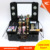 Professional make up case with light mirror,hairdresser case,made of aluminum frame & with trays and compartments inside