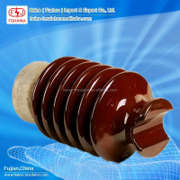 High voltage porcelain post power line insulators/33kv ceramic isolator