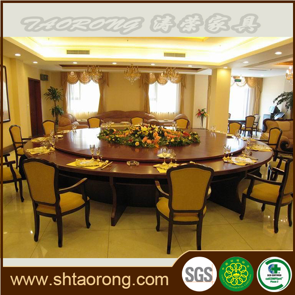 5 star hotel round restaurant table and chairs HS-069