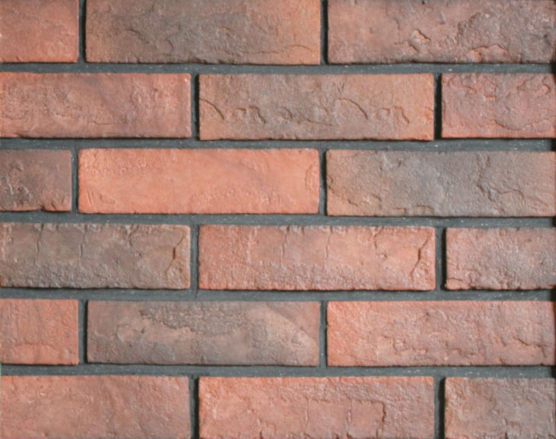 decorative thin red face brick veneer indoor wall cladding 071015A