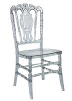 Popular tiffany catering acrylic wedding high back crown royal chair
