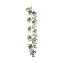 "60"" best choice artificial christmas garland rattan with snow berry and mixed Leaves pine cone barks"