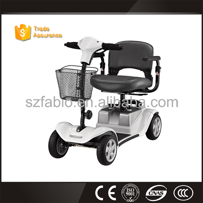 lightweight 600W 24V mobility scooter for old people full suspension disabled used electric vehicle with four wheels