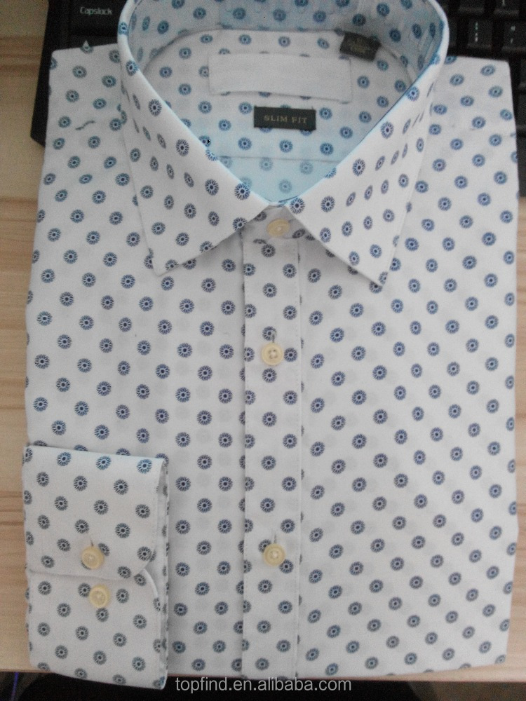 Yiwu shirt factory oem printing style latest new model shirt for man