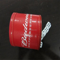 Funny Bar Custom Dice Cup, wholesale promotion custom leather dice cup
