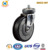 125mm Swivel Threaded Stem Grey TPE Japanese Style Industrial Flat Trolley Caster Wheel