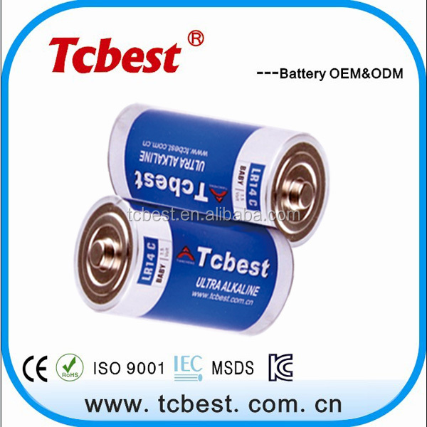 lr14 c alkaline battery label