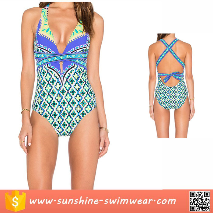 Women Swimsuits One Piece Sexy Backless Strap Bathing Suit