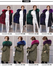 Thick Natural Real Raccoon Fur Lined Parka Coat for Winter