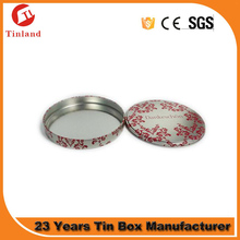 silver round metal dvd box case with plastic tray