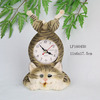 Resin cat digital wall clock to home decorate