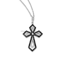 Economic Plain Colorful large sterling silver cross pendant