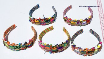 Color Ethnic Hair Headbands Lady Accessories Figurines Women's Fashion