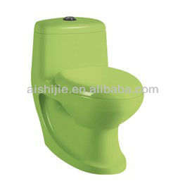 A3116 Ceramic Siphonic One Piece Toilet Green Color WC Toilet