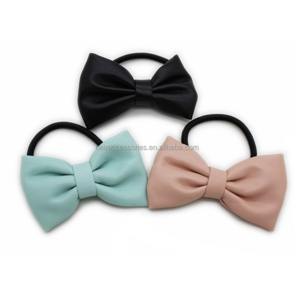 Women hair accessories Elastic with bowl tie