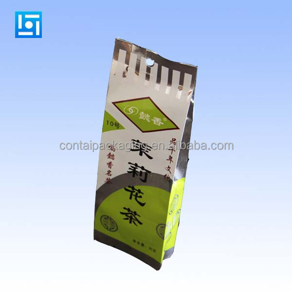 Gravure printing aluminum foil custom triangle tea bag moisture proof plastic tea bag