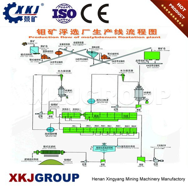 Complete ore flotation seperating process line gold production line