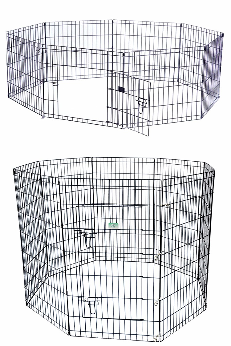 welded eight panels metal wire folding pet fence