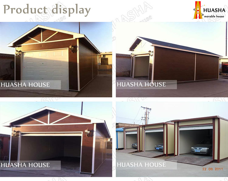 Light steel structure modern container garage for sale