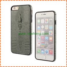 Cell phone accessories soft slim ultra thin Crocodile PU Leather back case cover For iPhone 6 6 plus