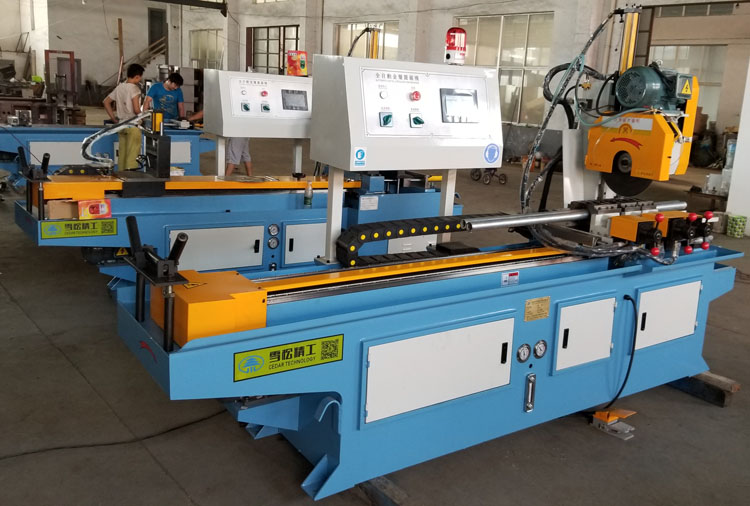 350CNC pipe cutting machine automatic feeding copper pipe stainless steel pipe cutting machine