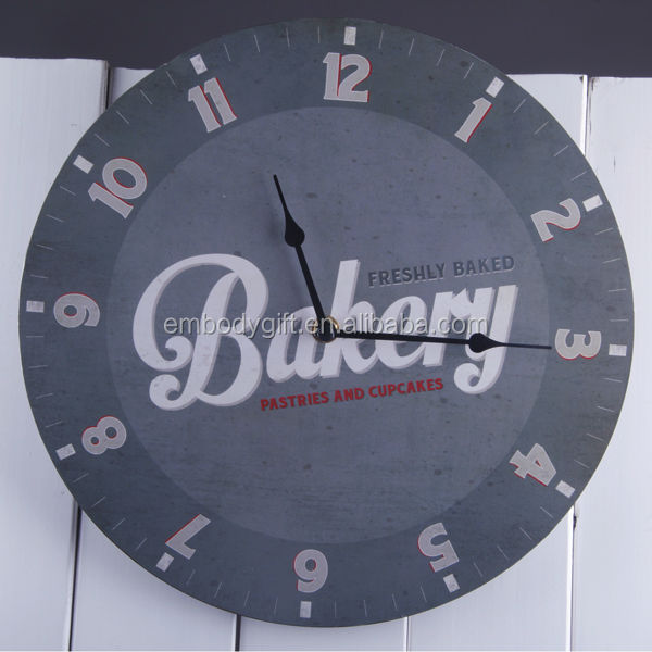 Large Digital MDF Wall Clock With Round Shape