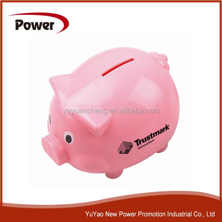 2015 personalized plastic piggy bank kids plastic piggy bank coin counting piggy bank yc050 - Counting piggy bank ...