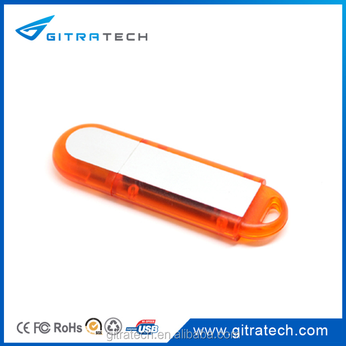 Hotselling Polished Usb Flash Drive 1-32GB Semi-Transparent With Logo Printing