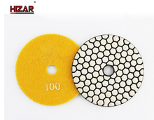 diamond granite dry polishing pads flexible with good finish