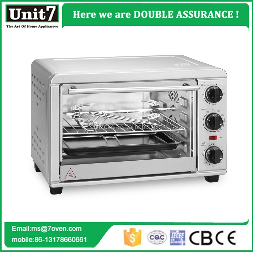 Unit7 Home Appliance 1300w electric oven toaster 20L rotisserie oven