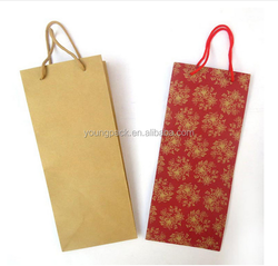 2016 Wholesale high quality wine bottle paper bag