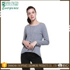 Various colors custom cotton long sleeves pullover sweater woman