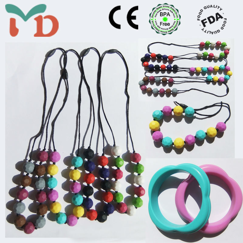 2014 Hot Sale New Product Baby Silicone Teething Beads For Jewelry