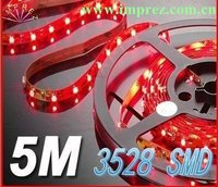 2012 Hot Sales DC12V Non-Waterproof Taiwan Chip Led Strip 60Leds/m Flexible Red SMD 3528 Strip Light