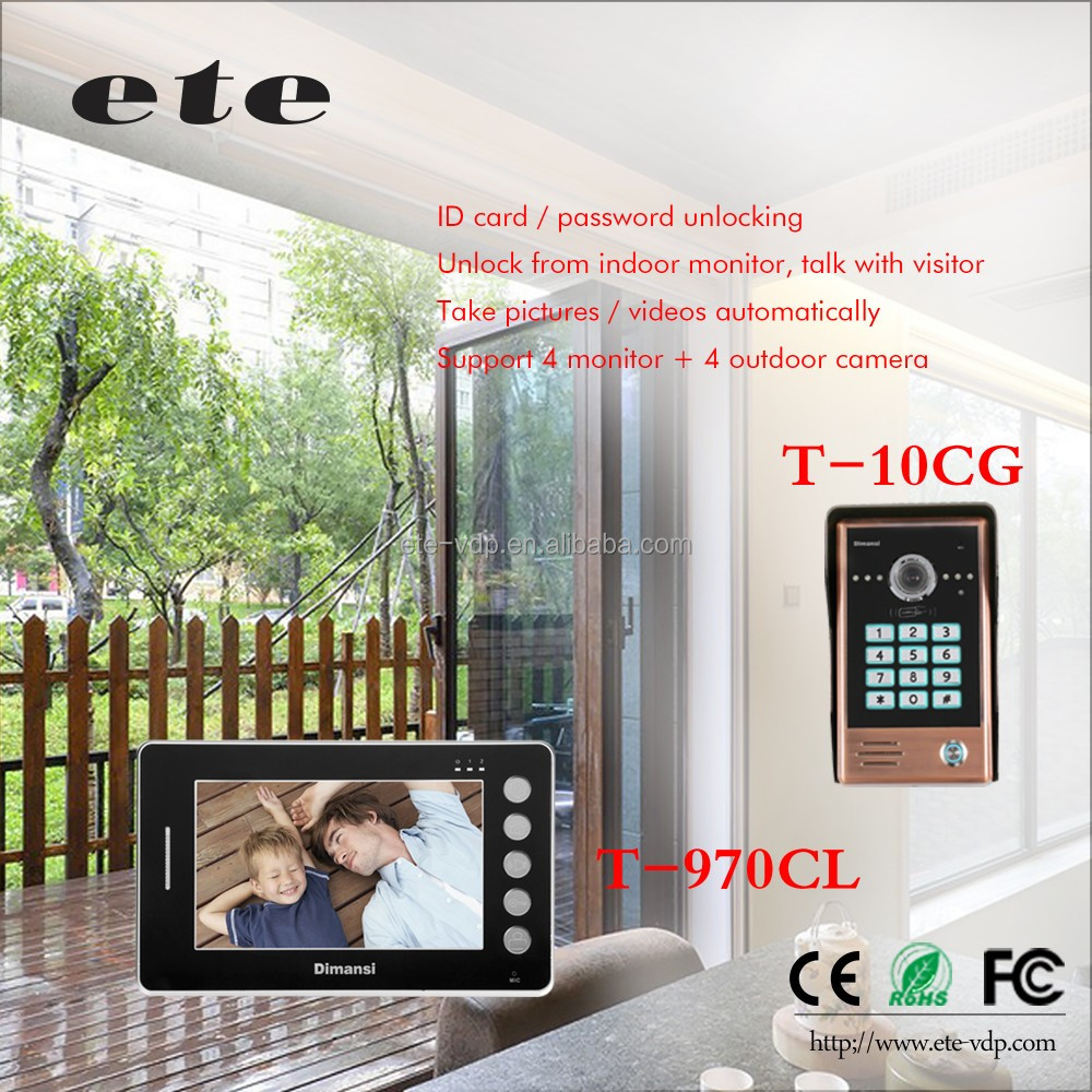 Home decor mobile home security video door bell intercom camera with reliable quality