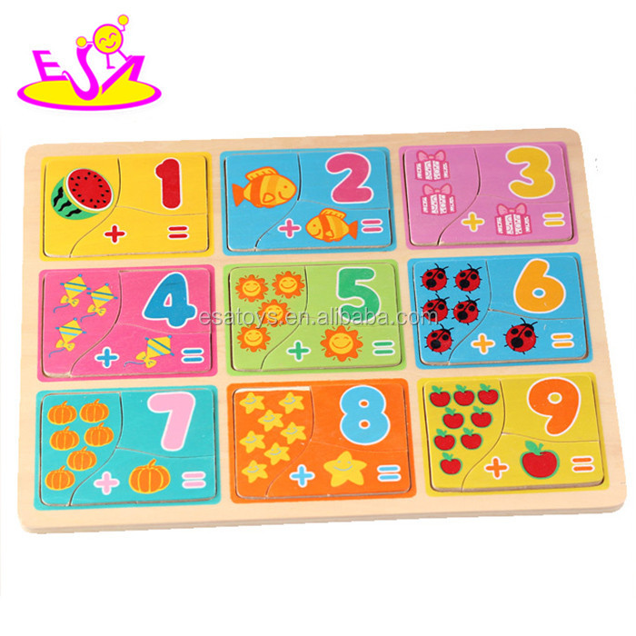 Educational Toy Kids Wooden Math puzzles,Children Game Wooden number Puzzles,High Quality Wooden Math Puzzle toy W14C234
