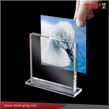 Wholesales 4x6 3x5 6x8 acrylic photo holder Glass Photo Picture Frame